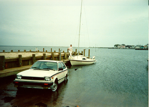 1984 Gloucester 16 Sail Boat Car Launching