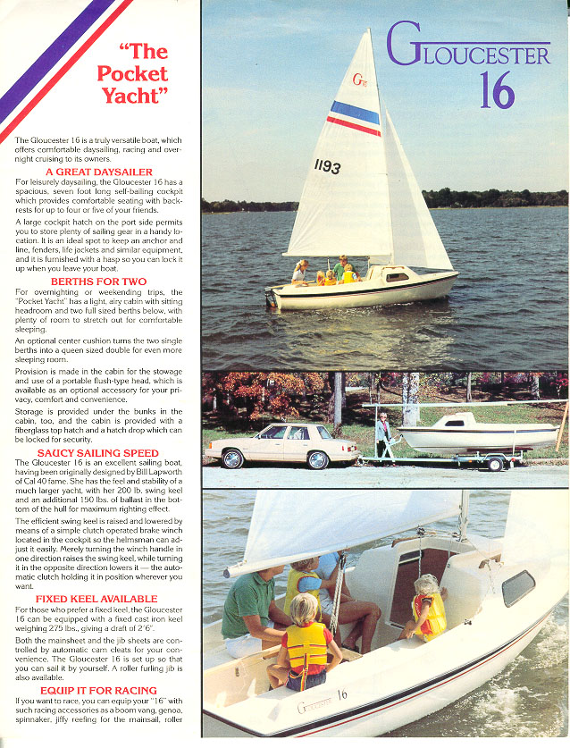 1984 Gloucester 16 Sail Boat